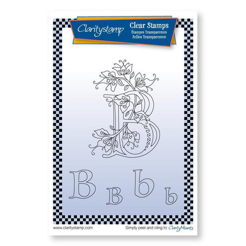 Floral Alphabet - Letter B <br/>Unmounted Clear Stamp Set