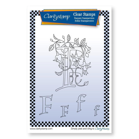 Floral Alphabet - Letter F <br/>Unmounted Clear Stamp Set