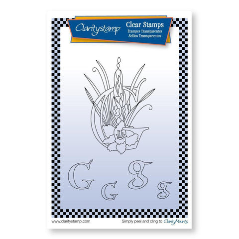 Floral Alphabet - Letter G <br/>Unmounted Clear Stamp Set