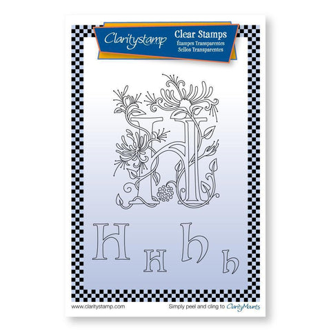 Floral Alphabet - Letter H <br/>Unmounted Clear Stamp Set