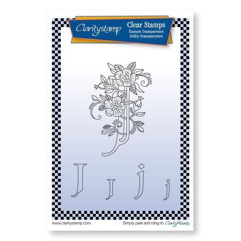 Floral Alphabet - Letter J <br/>Unmounted Clear Stamp Set