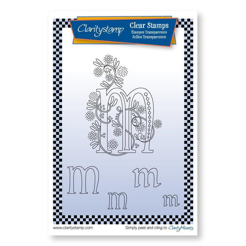 Floral Alphabet - Letter M <br/>Unmounted Clear Stamp Set