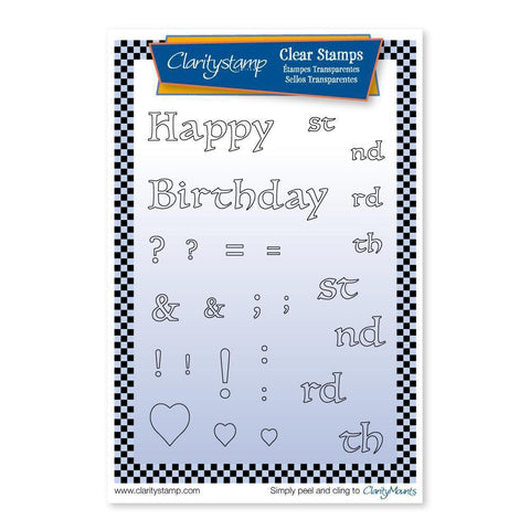 Floral Numbers - Happy Birthday <br/>Unmounted Clear Stamp Set