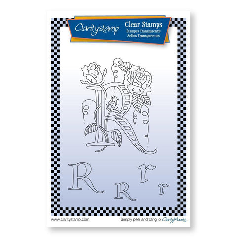 Floral Alphabet - Letter R <br/>Unmounted Clear Stamp Set
