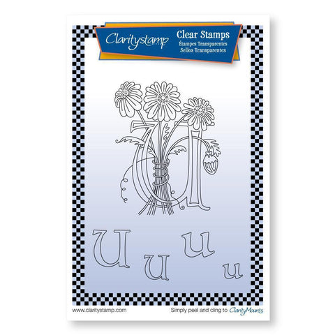 Floral Alphabet - Letter U <br/>Unmounted Clear Stamp Set
