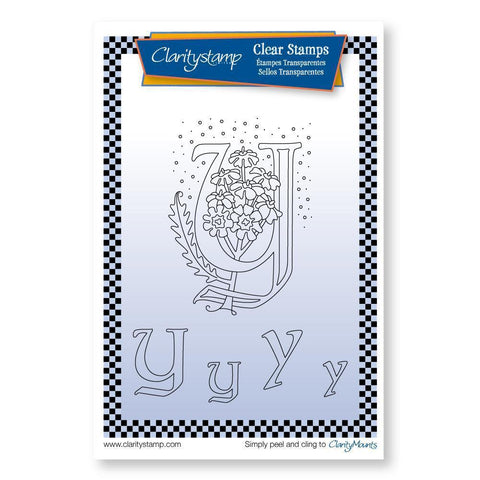Floral Alphabet - Letter Y <br/>Unmounted Clear Stamp Set