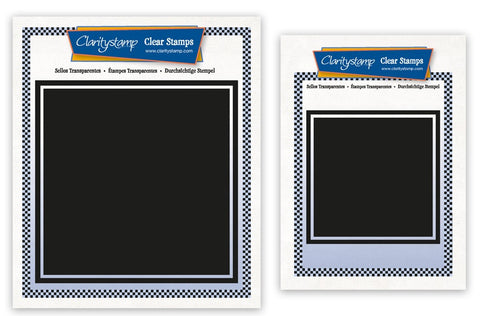 Set of 2 Square Backdrop Stamps