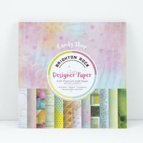 "Brighton Rock Designer Paper Pack 8"" x 8"""