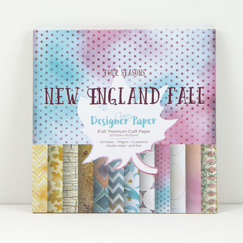 "New England Fall <br/>Designer Paper Pack 8"" x 8"""