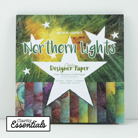 "Northern Lights Designer Paper Pack 8"" x 8"""