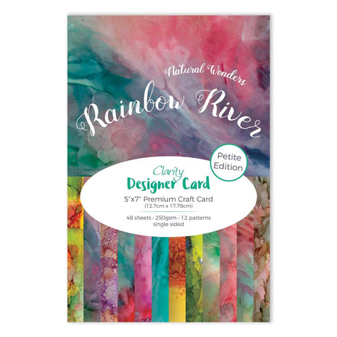 "Rainbow River Designer Card Pack 5"" x 7"" - Petite Edition"