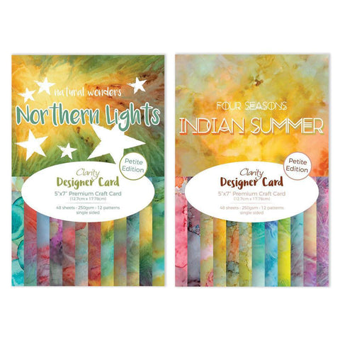 "Northern Lights & Indian Summer Designer Card Packs 5"" x 7"" - Petite Edition"