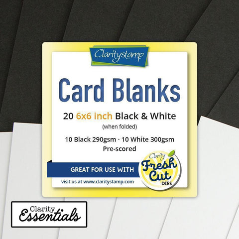 "Card Blanks 6"" x 6"" Black & White x10 of Each"