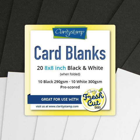 "Card Blanks <br/>8"" x 8"" Black & White x10 of Each"