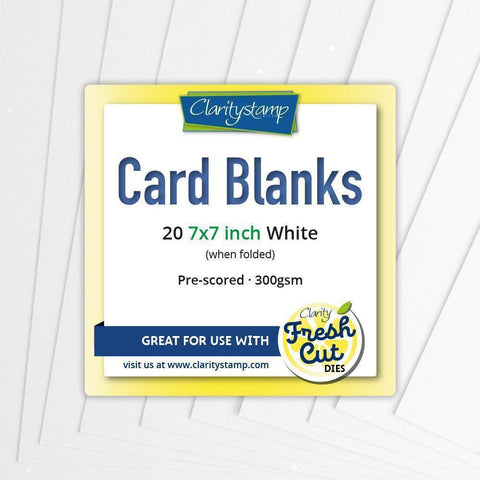 "Card Blanks 7"" x 7"" White x20"