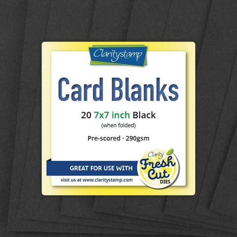 "Card Blanks <br/>7"" x 7"" Black x20"