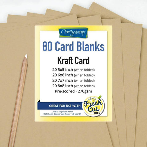 Kraft Card Blanks Bundle <br/>All Sizes x20 of Each <br/>+ FREE Pergamano White Pencil!