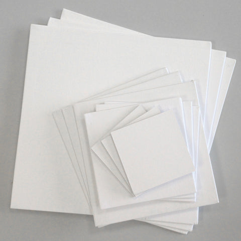 "Canvas Boards Square Sizes (Sets of 3 - 4"" x 4"", 6"" x 6"", 8"" x 8"", 12"" x 12"")"