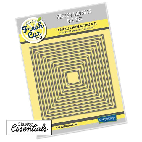 Nested Squares Die Set Clarity Fresh Cut Dies