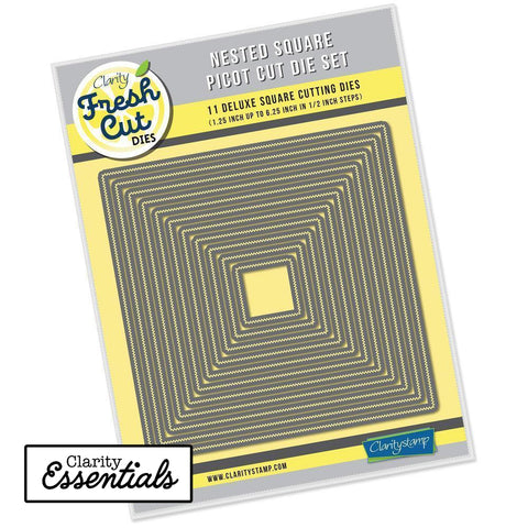 Nested Squares Picot Cut Die Set <br/>Clarity Fresh Cut Dies