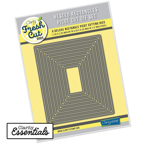 Nested Rectangles Picot Cut Die Set Clarity Fresh Cut Dies