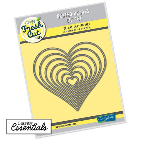 Nested Hearts Die Set Clarity Fresh Cut Dies