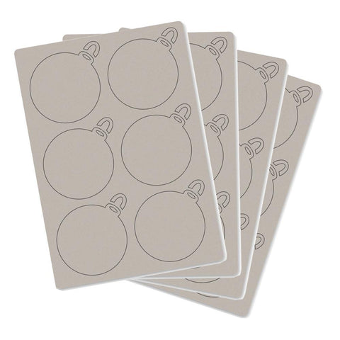 Christmas Baubles Pack of 4 A5 Grey Boards