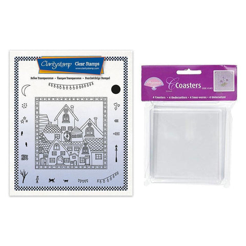 Barbara's About Town Stamp Set & Coasters