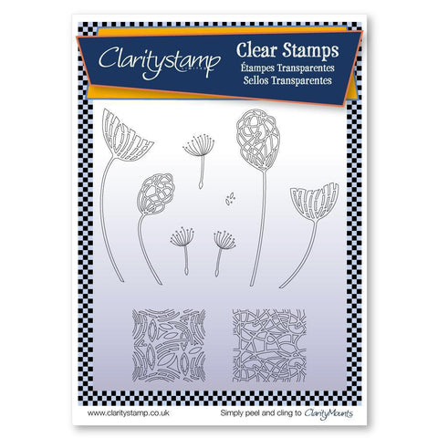 Abstract Dandelions Unmounted Clear Stamp Set