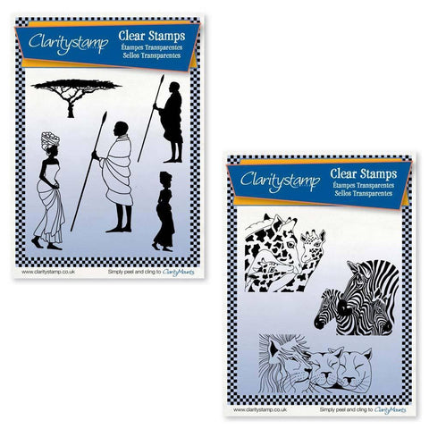 African & Safari Animals + Masks <br/> A5 Unmounted Stamp Sets