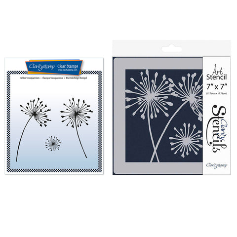 Alliums Stamp Set & Stencil Bundle