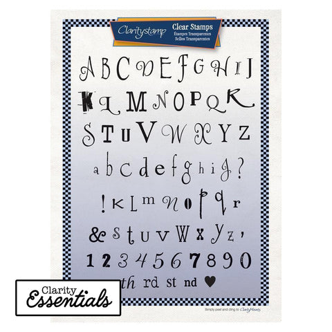 Alphabet & Numbers Word Chains Unmounted Clear Stamp Set