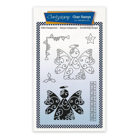 Angels - Tina's 2 Way Christmas Ornaments A6 Stamp Set