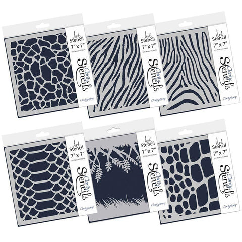 "Animal Skin Patterns 7"" x 7"" Stencil Collection"