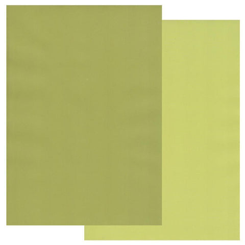 Apple Green & Pear Green x10 <br/>Groovi Two Tone Parchment Paper A4