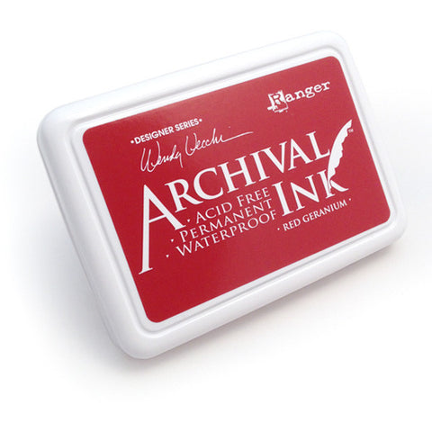 Archival Ink Pad - Red Geranium