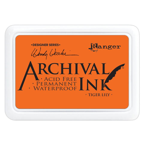 Archival Ink Pad - Tiger Lily