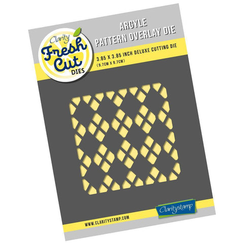 Argyle Pattern Overlay - Aperture Clarity Fresh Cut Die