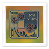 Art Nouveau Best Wishes <br/>A6 Groovi Plate