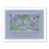 Art Nouveau Sentiments & Spacer <br/>A6 Groovi Plate Set <br/>SAVE £4.97!