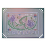Art Nouveau Floral & Sentiments Collections & Spacers <br/>A6 Groovi Plate Set