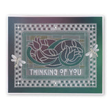 Art Nouveau Thinking of You <br/>A6 Groovi Plate <br/>(Set GRO-WO-40836-02)