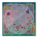 Art Nouveau Poppy Fields & Bed of Roses A6 Groovi Plates (Set GRO-FL-40881-02)