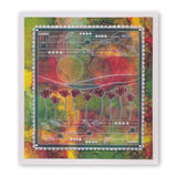Art Nouveau Poppy Fields <br/>A6 Groovi Plate <br/>(Set GRO-FL-40881-02)