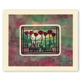 Art Nouveau Bed of Roses & Poppy Fields <br/>Unmounted Clear Stamp Set