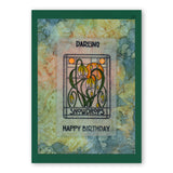 Art Nouveau Floral Spacer <br/>Unmounted Clear Stamp Set