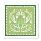 Art Nouveau Lilies <br/>A5 Square & Groovi Border Plate Set