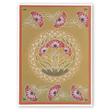 Art Nouveau Poppies <br/>A5 Square & Groovi Border Plate Set
