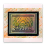 Art Nouveau Congratulations & Thinking of You Unmounted Clear Stamp Set