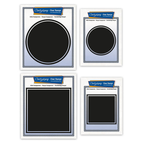 Square & Circle Backdrop Stamp Collection